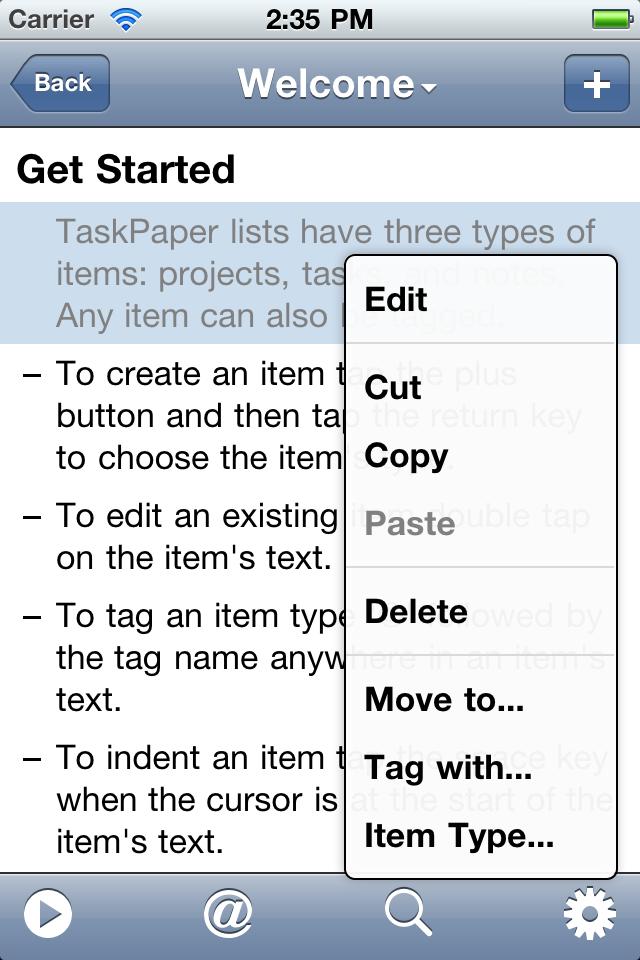 TaskPaper — Simple to-do listsスクリーンショット