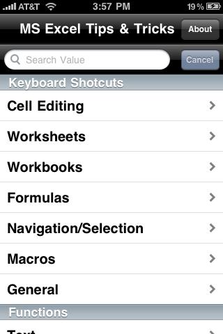 Microsoft Excel Tips & Tricksスクリーンショット