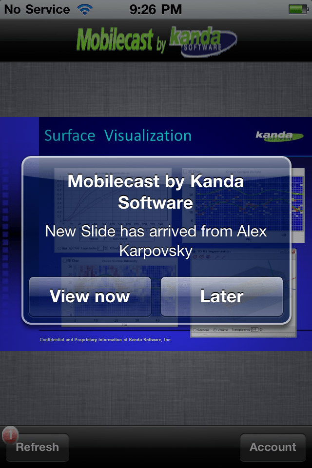 Mobilecast for MS PowerPoint by Kanda Softwareスクリーンショット