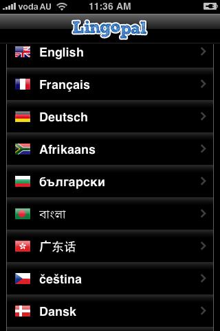 Lingopal 標準中国語 – 喋るフレーズブックスクリーンショット