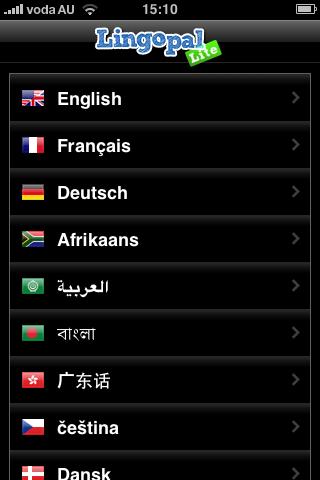 Lingopal タガログ語 LITE  – 喋るフレーズブックスクリーンショット