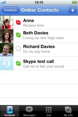 Skypeスクリーンショット