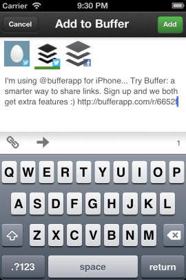 Bufferスクリーンショット
