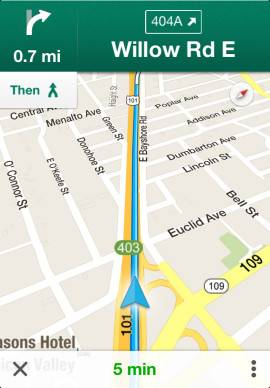 Google Mapsスクリーンショット