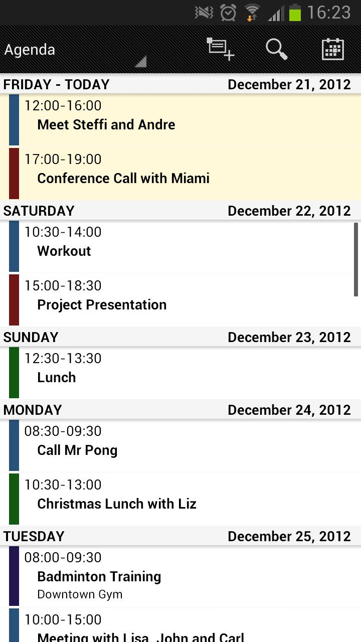 Business Calendarスクリーンショット