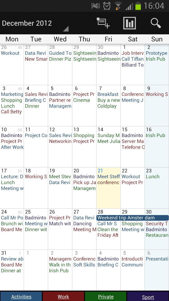 Business Calendar Freeスクリーンショット