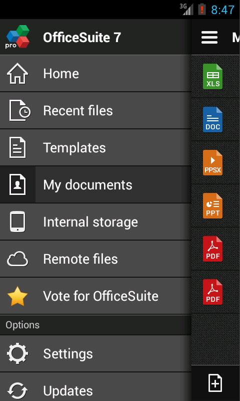 OfficeSuiteのプロ7(試用版)スクリーンショット