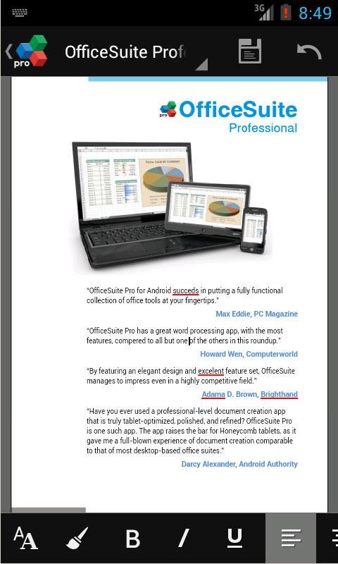 OfficeSuiteのプロ7 +(PDF&HD)スクリーンショット