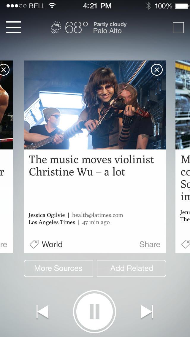 選んで聞けるニュースアプリ『Newsbeat』スクリーンショット