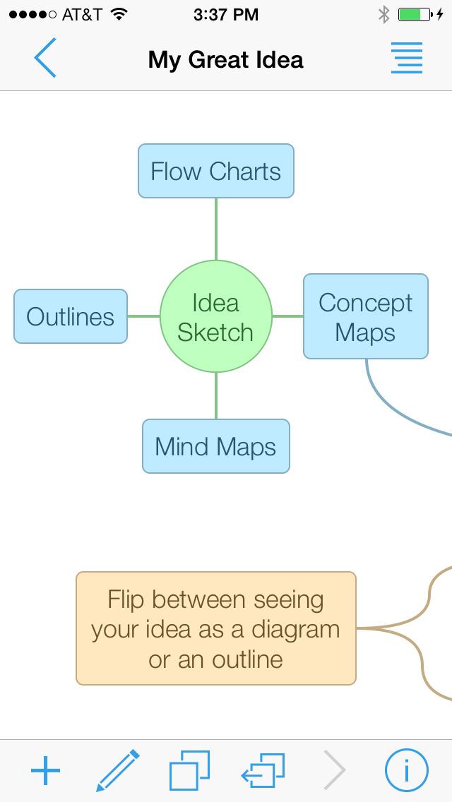 アイデアを整理整頓!マインドマップ作成アプリ『Idea Sketch』スクリーンショット
