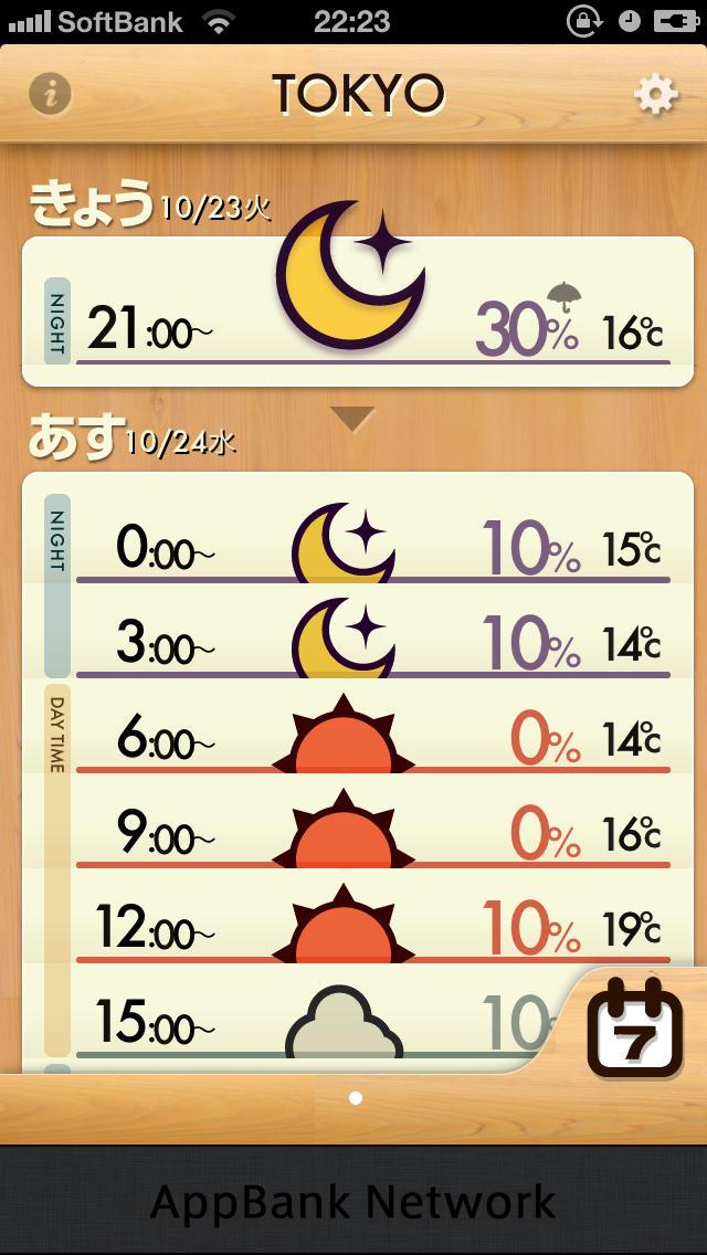 お天気アプリに迷ったらコレ!シンプルで可愛い「おてがる天気」スクリーンショット